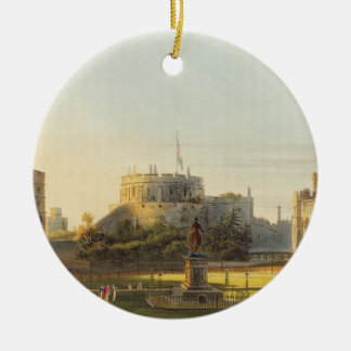 The Upper Ward, Windsor Castle, from 'Royal Reside Round Ceramic Decoration