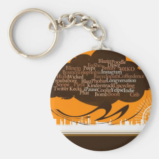 The Urban Cloud Basic Round Button Key Ring