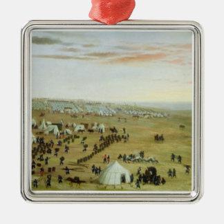 The Uruguaiana Camp, Rio Grande, Brazil, 1865 (oil Christmas Ornament