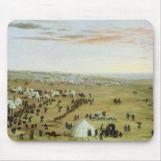 The Uruguaiana Camp, Rio Grande, Brazil, 1865 (oil Mouse Mat