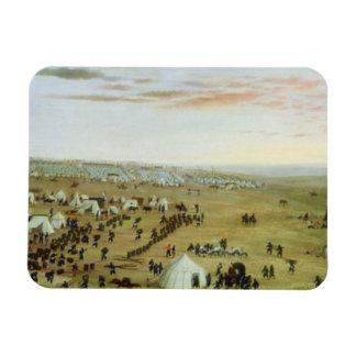 The Uruguaiana Camp, Rio Grande, Brazil, 1865 (oil Vinyl Magnet