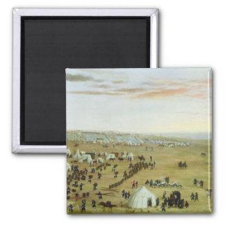 The Uruguaiana Camp, Rio Grande, Brazil, 1865 (oil Square Magnet