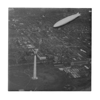 The US Airship 'USS Los Angeles' ZR3 flying over Small Square Tile