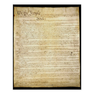 The US Constitution Poster