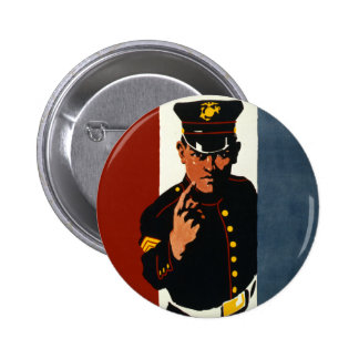 The US Marines Want You 6 Cm Round Badge