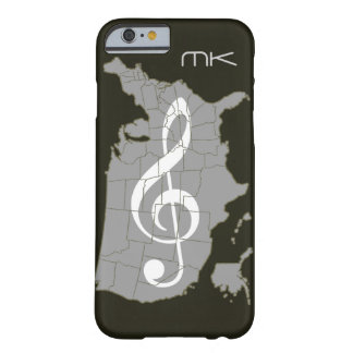 The USA map with a treble clef Barely There iPhone 6 Case