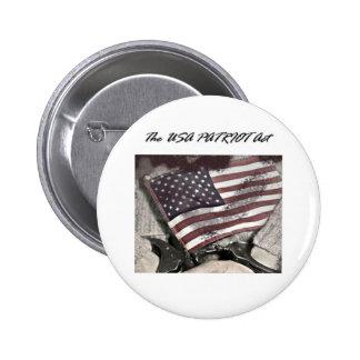 The USA Patriot Act 6 Cm Round Badge