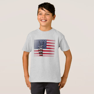 The USA Tee-shirt Hanes TAGLESS® for child., Ashes T-Shirt