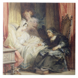 The Use of Tears, 1827 (w/c and bodycolour over gr Large Square Tile