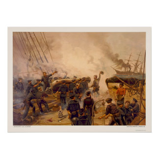 The USS Kearsarge Sinks the CSS Alabama in 1864 Poster