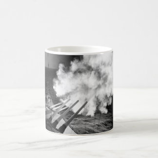 The USS Missouri fires 16-inch shell_War Image Coffee Mug
