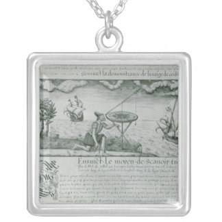 The Utilisation of the Sextant Silver Plated Necklace