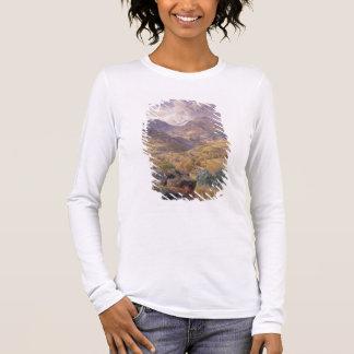 The Val d'Aosta, 1858 (oil on canvas) Long Sleeve T-Shirt