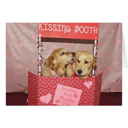The Valentine's Day Golden Kissing Booth Card