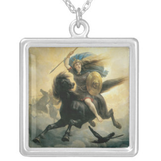The Valkyrie, 1869 Square Pendant Necklace