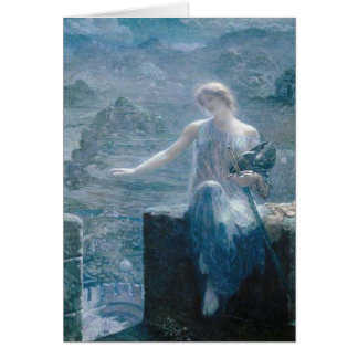 The Valkyrie's Vigil, Edward Robert Hughes, 1906 Card