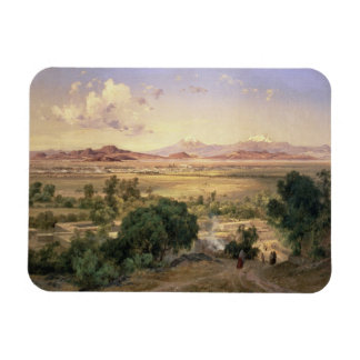 The Valley of Mexico from the Low Ridge of Tacubay Vinyl Magnets
