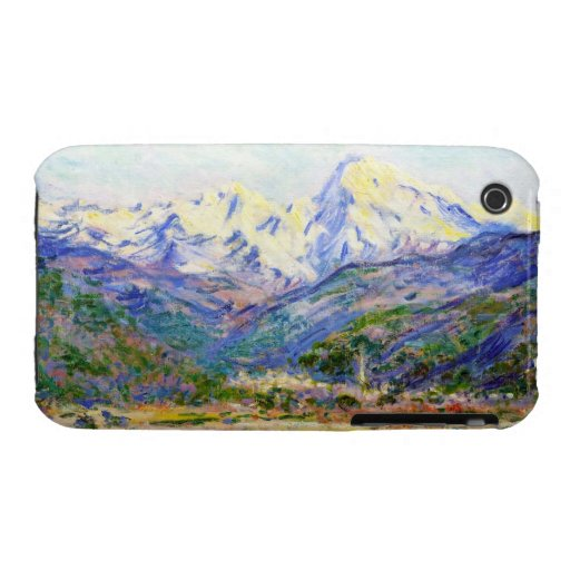 The Valley of the Nervia, 1884 Claude Monet Case-Mate iPhone 3 Cases