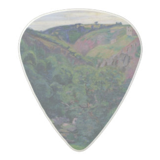 The Valley of the Sedelle, 1897 (oil on canvas) Acetal Guitar Pick