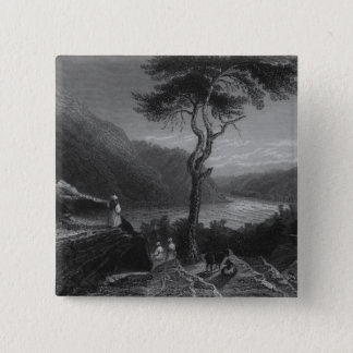 The Valley of the Shenandoah, from Jefferson 15 Cm Square Badge
