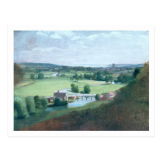 The Valley of the Stour with Dedham in the Distanc Postcard