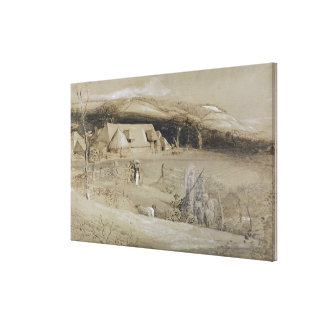 The Valley of Vision (brush, ink wash, bodycolour Canvas Print