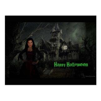 The Vamp Halloween Postcard
