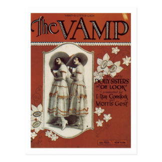 The Vamp Vintage Songbook Cover Postcard