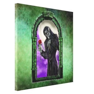 The Vampire and the rose Stretched Canvas Print