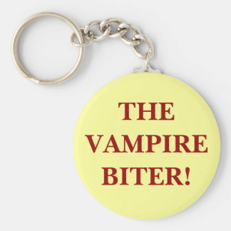 THE VAMPIRE BITER! BASIC ROUND BUTTON KEY RING