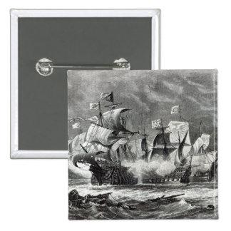 The Vanguard, under Sir William Winter 15 Cm Square Badge