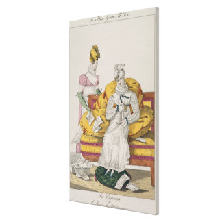The Vapours or The Accounts Day, plate 62 from 'Le Canvas Print