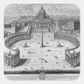The Vatican, Rome Square Sticker