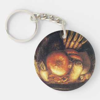 The Vegetable Bowl by Giuseppe Arcimboldo Key Chains