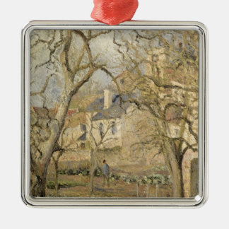 The Vegetable Garden, 1878 Silver-Colored Square Decoration