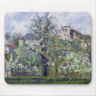 The Vegetable Garden with Trees in Blossom Mouse Mat