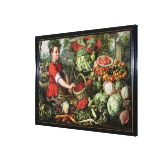 The Vegetable Seller Canvas Print