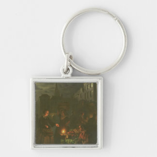 The Vegetable Stall Silver-Colored Square Key Ring