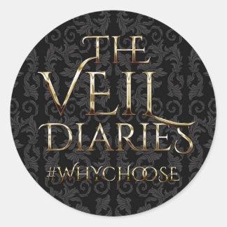 The Veil Diaries Classic Round Sticker