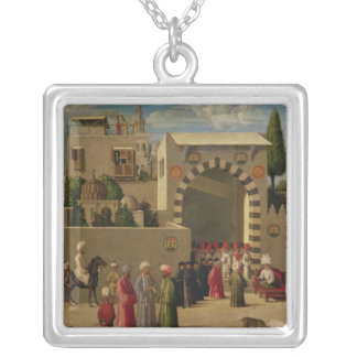 The Venetian Ambassador's Interview Silver Plated Necklace