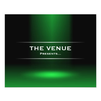 The Venue Presents - Green 11.5 Cm X 14 Cm Flyer