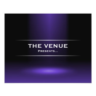 The Venue Presents - Indigo Blue 11.5 Cm X 14 Cm Flyer