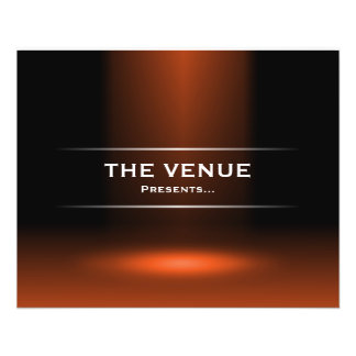 The Venue Presents - Orange 11.5 Cm X 14 Cm Flyer