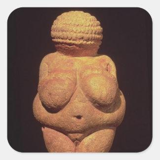 The Venus of Willendorf, Fertility Symbol Square Stickers
