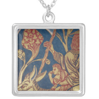 The Verduner Altar, detail of one panel border Silver Plated Necklace
