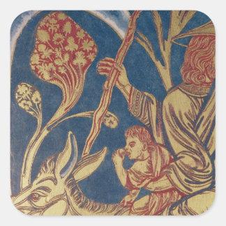 The Verduner Altar, detail of one panel border Square Sticker