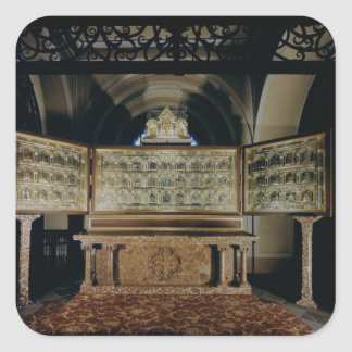 The Verduner Altar, with panels depicting Square Sticker