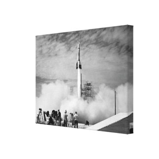 The Very First Rocket Launch At Cape Canaveral Stretched Canvas Prints