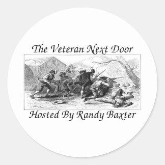 The Veteran Next Door Round Sticker