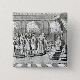 The Viceroy of Canton giving an audience 15 Cm Square Badge